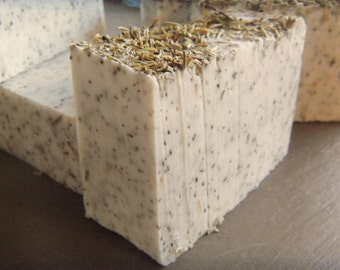 Select 2 or 3 Rosemary Peppermint wrapped Soap bars (Vegan)  approximate 4.25-4.5oz each