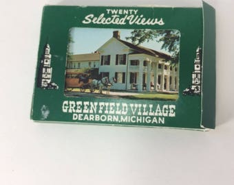 Postcards 20 Selected Views Greenfield Village Dearborn Michigan Unposted Vintage