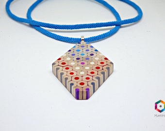 Bantiwa | Necklace from colored pencils | diamond