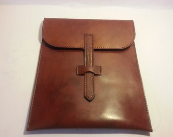 Leather Tablet sleeve for Small tablet.  Fire HD or iPad Mini