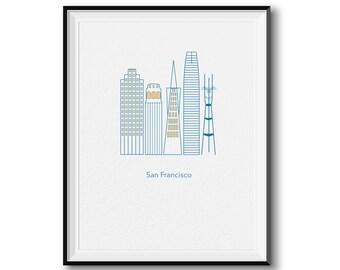 San Francisco Structures Print