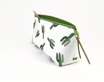 Cactus pencil case, Cactus pencil pouch, School supplies, Desk accessory, Pencil pouch cute, Student gift