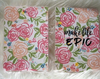 Floral Planner Cover sized to fit Mini Happy Planner