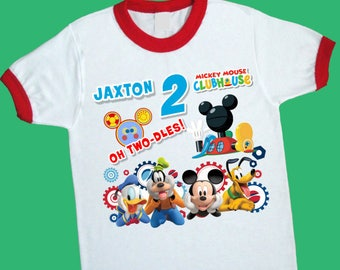 Oh Two-dles Birthday Ringer Tee. Oh Twodles Oh Toodles Oh Too-dles. Personalized Birthday Shirt with Name & Age. 2nd Birthday Shirt. (25222)