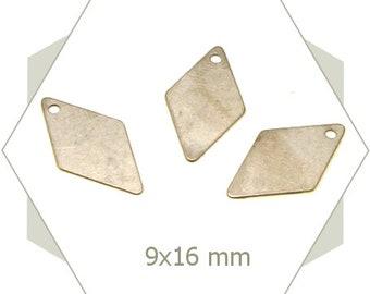 8 charms diamond silver, silver, steel, geometric BA113 color