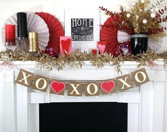 Valentine's Decoration Banner / XO XO XO decor / Valentine Banner / Valentine's Decorations / My Love Sign / Be Mine Garland / Love Garland