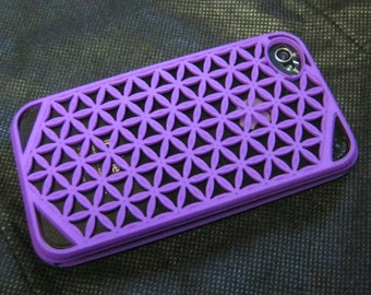 3D Printed iPhone 4 / 4S / 5 case - Flower of Life