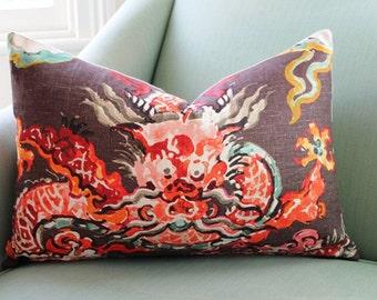 Jim Thompson Enter the Dragon Chinoiserie 16 x 24  Inch Cushion Pillow Cover