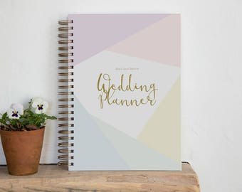 A4/A5 Personalised Wedding Planner - Diamond Design