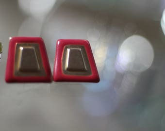 80's-90's Red Square Earrings
