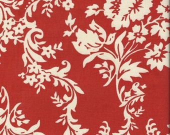 Sale ~ LOST and FOUND DAMASK Home Decor Canvas Fabric in Red ~ by the yard ~ HD3692