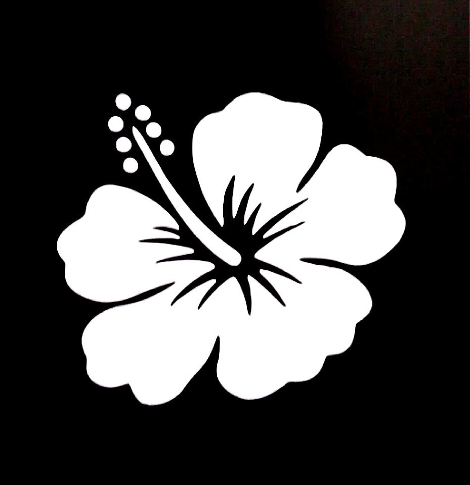 Hibiscus hawaiian flower vinyl decal sticker from gobine on etsy studio hibiscus hawaiian flower vinyl decal sticker izmirmasajfo