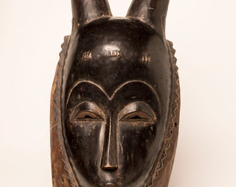 Wooden Yaure African Mask- Ivory Cost
