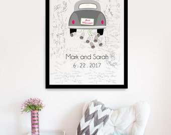 Volkswagen Just Married Guestbook Poster Sign, Wedding Guest book Sign, Wedding Guestbook Alternative, Guestbook Sign, Guestbook ideas