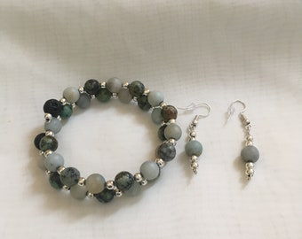 Essential Oil Bracelet with matching Earrings