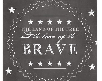 Land Of The Free Iron-On Label