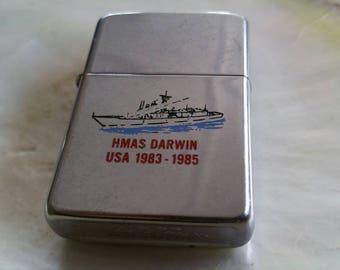 Vintage HMAS DARWIN 1983 - 1985 USA Australian Navy Zippo  Lighter