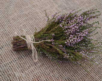 Dried heather bouquet small heather bouquet Calluna vulgaris Dried flowers bouquet   Indoor decor Outdoor decor Old cottage style