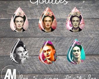Frida Kahlo • 48 Images Digital drops, kalo kahlo, Mexico, skull, flower Bohemian muerte mexican download images