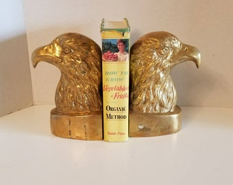 Vintage Large Brass Eagle Bookends Made in India VC90
