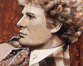 DOCTOR WHO  ~ 'The Sixth Doctor'. 4 x 6 inch Mounted Print
