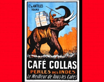 Cafe Collas Advertising Print 1927 - Food Poster Coffee Poster Kitchen Kitchen Decor Kitchen Prints Coffee Print  t