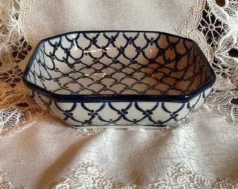 Polish Pottery Bowl Dish - originates from Boleslawiec, Poland