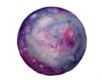 galaxy universe watercolour virgo or scorpio