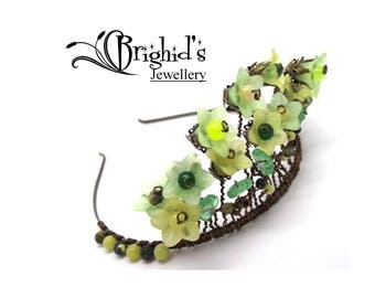 Pagan Headdress The Beltane Crown - Spring Handfasting Fairy Tiara Pagan Tiara Handfasting Headdress Fairy Crown