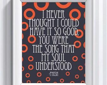 Phish Lyrics - Joy - 11x14 - poster print