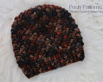CROCHET PATTERN - Crochet Hat Pattern (4 Sizes) - Instant PDF Download 452