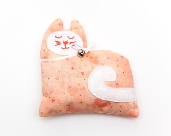 Peach Lavender Kitty Sachet, Aromatherapy Sachets, Stocking Stuffers