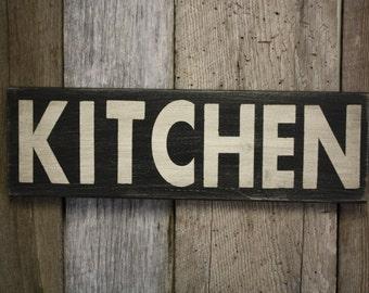 Kitchen Sign, Fixer Upper Style, Wooden Kitchen Sign, Kitchen Sign Decor, Farmhouse Decor, Weathered Kitchen Sign, Farmhouse Sign