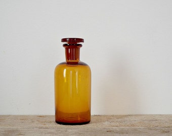 PHARMACY BOTTLE glass bottle clear brown glass bottles small glass jar storage containers drugstore amber colored glass