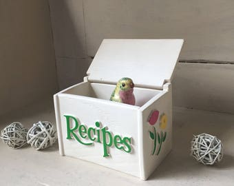 Vintage Recipe Box   1985 FTD Planter Box   Faux Wood Recipe Box   Whitewashed Faux Wood Recipe Box   Recipe Card Box   Kitchen Decor