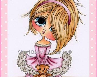 INSTANT DOWNLOAD Digital Digi Stamps Big Eye Big Head Dolls Digi  My - Besties Blakely Ann Love U By Sherri Baldy