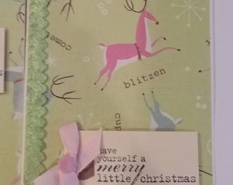 Handcrafted Christmas Cards, Set of 4 Merry Christmas Cards, Handmade Cards & Envelopes, Blank Inside, Holiday Cards, Seasonal Cards, Merry