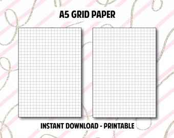 A5 Grid Paper Planner Printable Inserts // Printable Inserts for Your A5 Planner