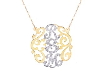 925 Sterling Silver Initial Necklace
