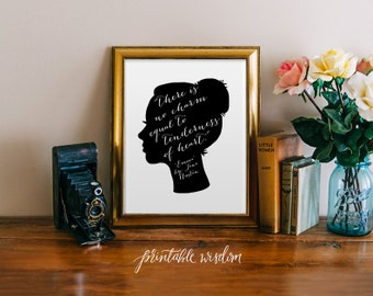 Attractive Jane Austen Quote Print Art Wall Art Printable Wall Decor Print  Inspirational Quote Jane Austen Silhouette