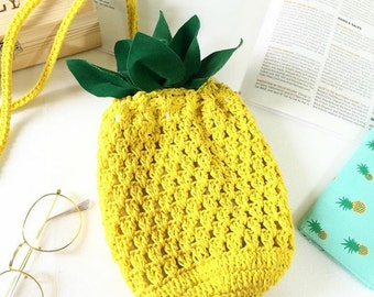 Pineapple bag Crochet bag for Festival Bag