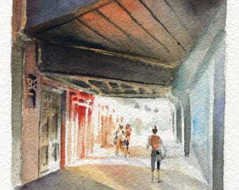 "4""x6"" Original Watercolor Painting - Chelsea Market"