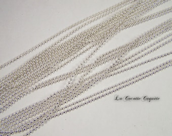1 m chain beads / silver 2.4 mm balls