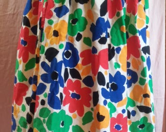 Late 80s Floral skirt with Jean-style top