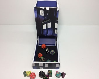 Dr. Who (TARDIS) inspired dice tower