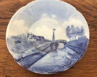 Rosenthal Delft Sanssouci 'Sailboat on Canal' Bread and Butter Plate