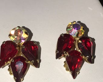 GLAMOROUS Exquisite Stunning RUBY RED Juliana Earrings Vintage Beauties  For Special Occasions Holidays New Years Weddings