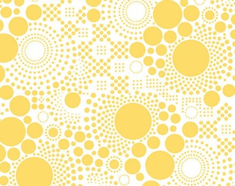 One Yard Hipsters - Pop Dots in Yellow - Cotton Quilt Fabric - C521-06 - RBD Designers for Riley Blake Designs (W2444)