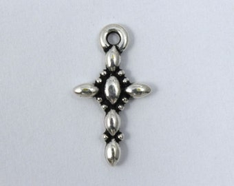 18mm Antique Silver Pewter Cross #CRA044