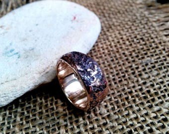 Textured Bronze, Copper  Ring. 4mm, 8mm, 10mm Wide.